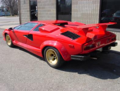 1987 Lamborghini Countach Red Black 20 218 Miles Evans Automotive
